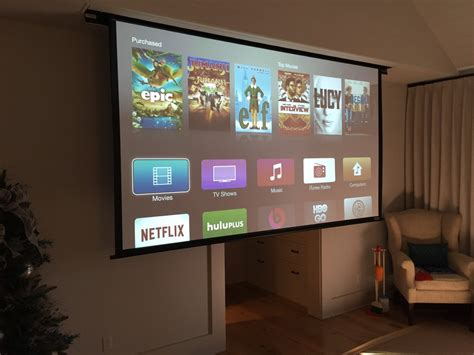 projector bedroom drop down 132 quot projector screen in your bedroom um yes please bedroomupgrade