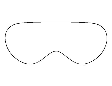 printable eye mask template eye mask pattern use the printable outline for crafts
