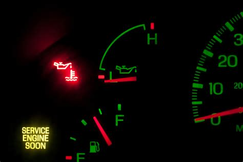engine temperature warning light the reasons for oil pressure light on after oil change