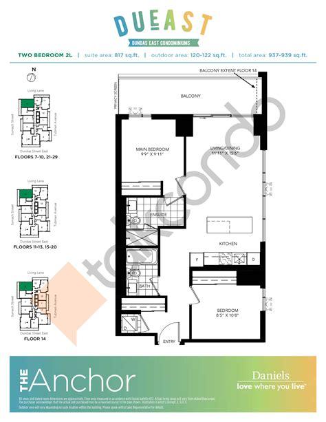 condo floor plan dueast condos talkcondo