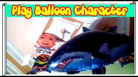 film upin ipin ikan laga bermain mainan balon karakter upin ipin remot kontrol air