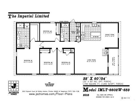 imlt 46412b mobile home floor plan ocala custom homes imlt 6602w 659 mobile home floor plan ocala custom homes