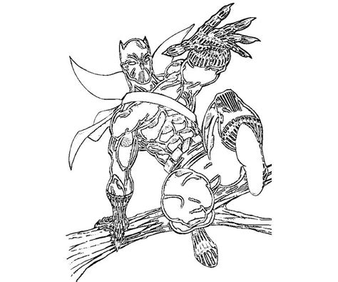 Black Panther Coloring Page Coloring Home Panther Coloring Pages