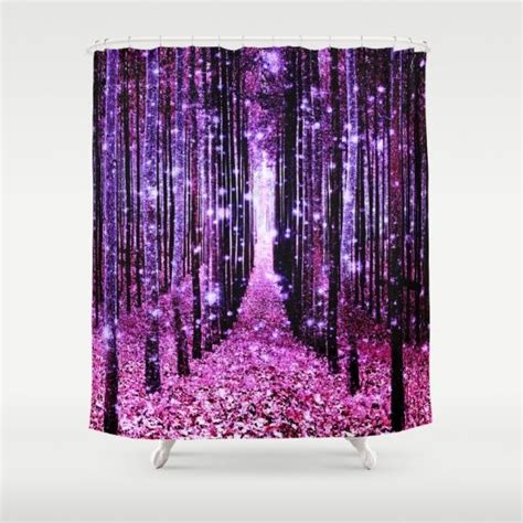pink and purple shower curtain magical forest pink purple shower curtain bathrooms