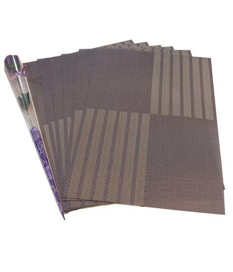 gran gray contemporary pvc table mats buy gran gray
