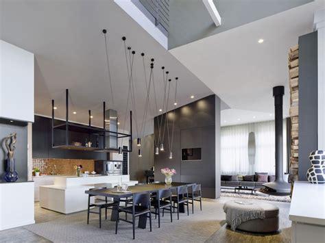 Loft Kitchen Living Room Loft Moderne Cuisine Ilot Central Picslovin