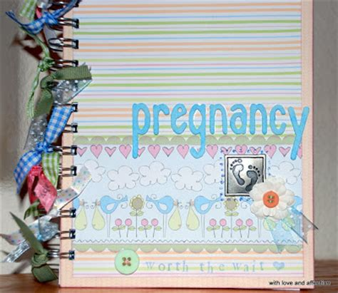 Handmade Pregnancy Journal - stuff and handmade pregnancy journal