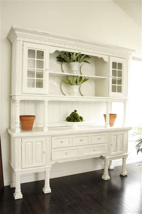 White Dining Room Hutch Shorely Chic Dining Hutch Re Do