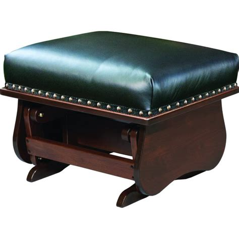 Gliding Ottoman Leather Mission Glider Amish Crafted Furniture