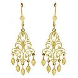 yellow chandelier earrings view larger