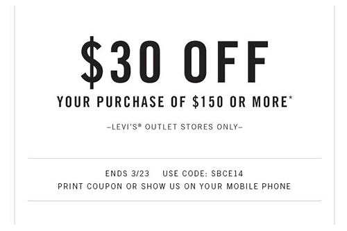 levi's outlet coupon printable