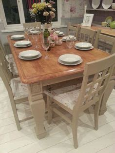 distressed esszimmer sets bespoke shabby chic farmhouse table with drawer and 6