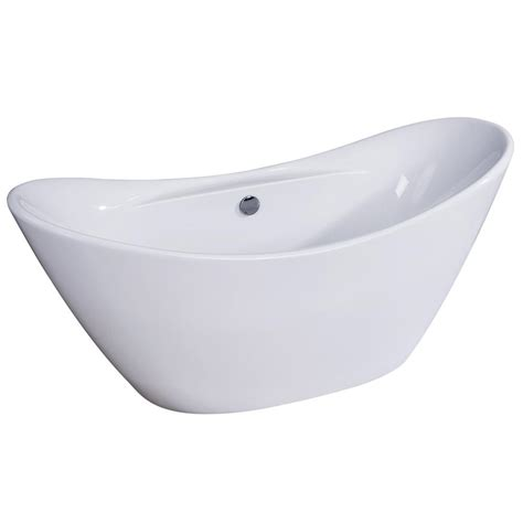 double slipper bathtub aqua eden fusion 67 7 in acrylic double slipper