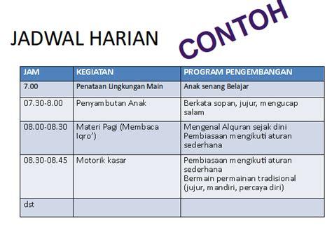 membuat jadwal kegiatan pimpinan menyusun rkh paud dan sop paud sesuai kurikulum 2013