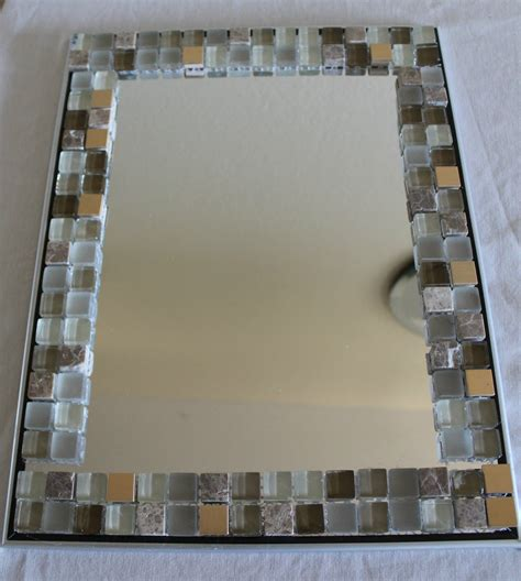 Easy Home Decor Craft Ideas by Diy Home Decor Glass Tile Mirror Frame Yolanda Soto