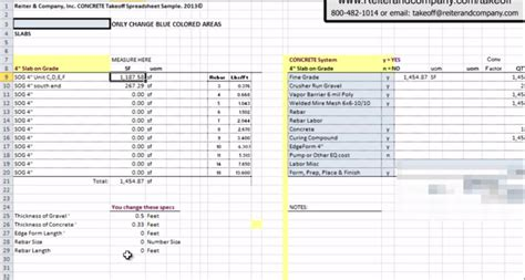 concrete estimate template estimating software free concrete
