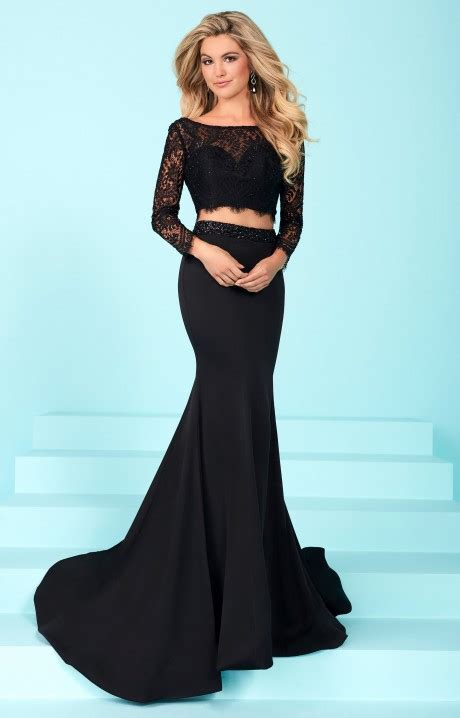 tiffany designs  long sleeve lace  piece dress