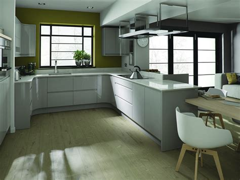 Dove Grey Kitchen Cabinets Remo Gloss Dove Grey High Gloss Kitchens At Discount Prices Trade Save Kitchens