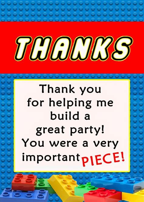 Thank You Card Template For Comming To Event by 1000 Ideas About Lego On Lego