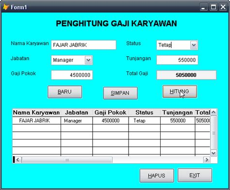 Membuat Database Karyawan Dengan Xp | sharing informasi terkini membuat penghitung gaji