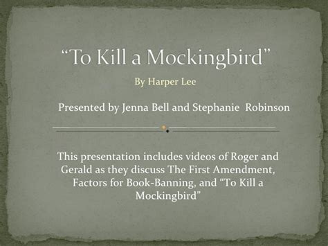 themes in to kill a mockingbird powerpoint student presentation to kill a mockingbird
