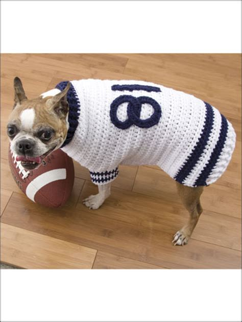 pattern for dog jersey football jersey dog sweater crochet pattern oh i love