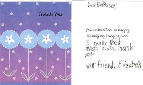Thank You Cards For Professors Graduation