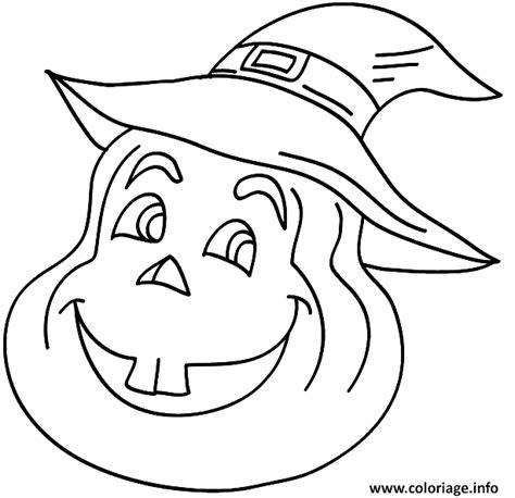 coloriage citrouille avec un chapeau de sorciere dessin