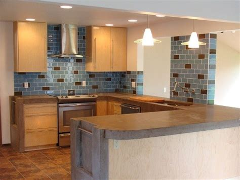 brown and blue contemporary kitchen with large kitchen island this contemporary kitchen s large brown and blue kitchen new blue and brown kitchen design