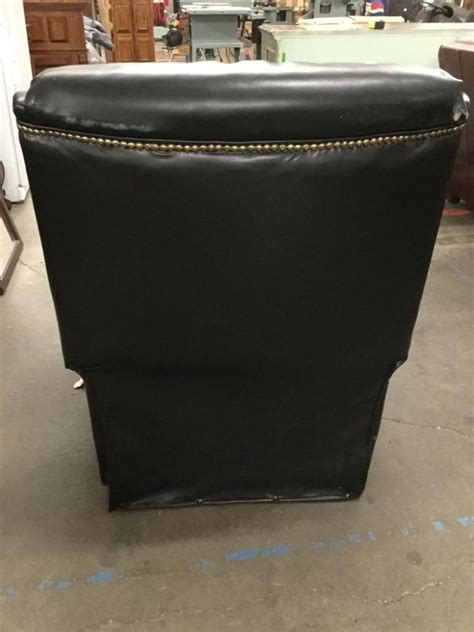 Leather Studded Recliner by Black Studded Leather Recliner In Cond Modern Look