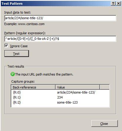 outlook rule pattern matching testing rewrite rule patterns microsoft docs