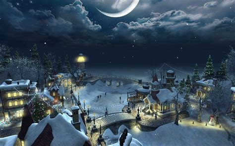 images of christmas scenery christmas scenery backgrounds wallpaper cave