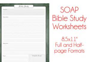 items similar to s o a p bible study worksheets antique