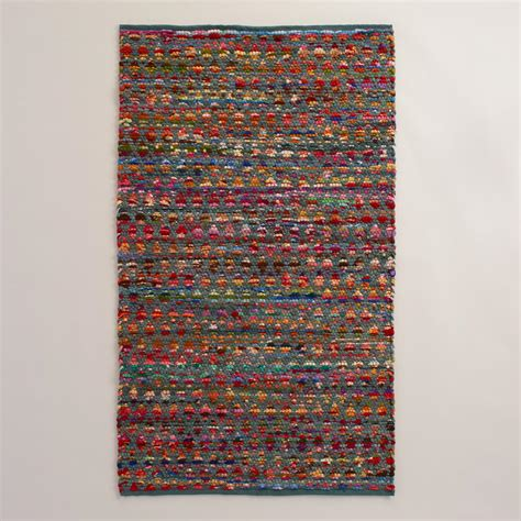 chindi rug world market 3 x5 multicolor chindi area rug world market