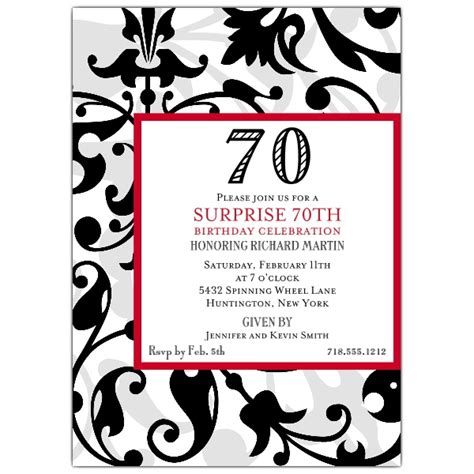70th birthday invitation templates faux flocked 70th birthday invitations paperstyle