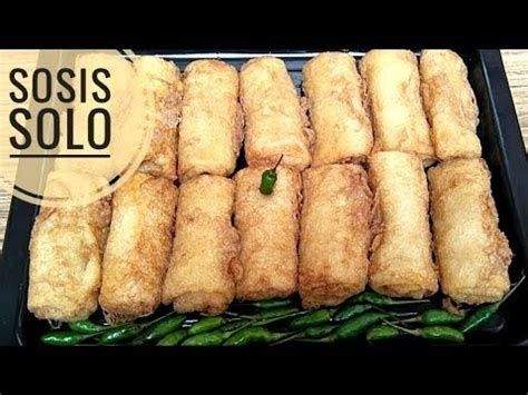 resep sosis solo youtube