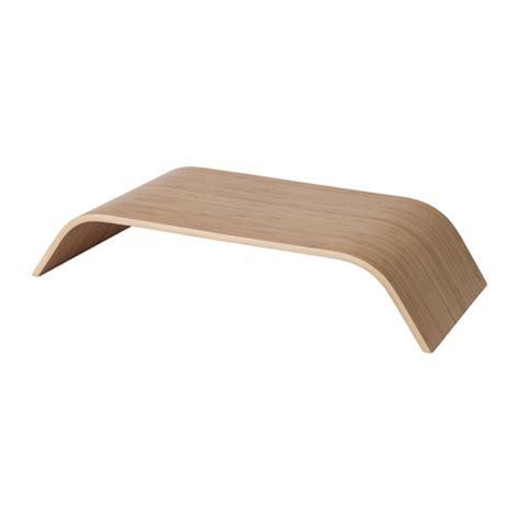 SIGFINN Monitor stand, fixed height Bamboo veneer   IKEA
