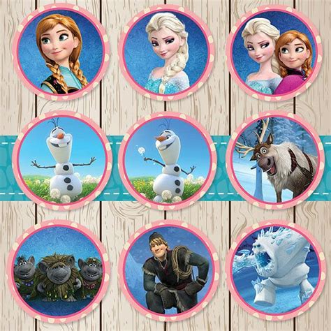 printable frozen toppers printable disney frozen stickers cupcake toppers