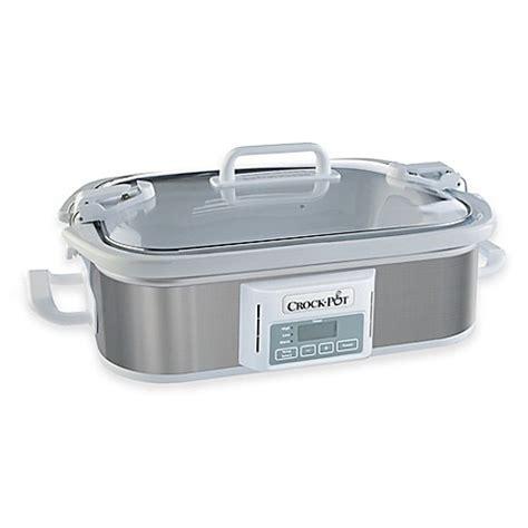 bed bath and beyond crock pot crock pot 174 programmable casserole slow cooker bed bath beyond