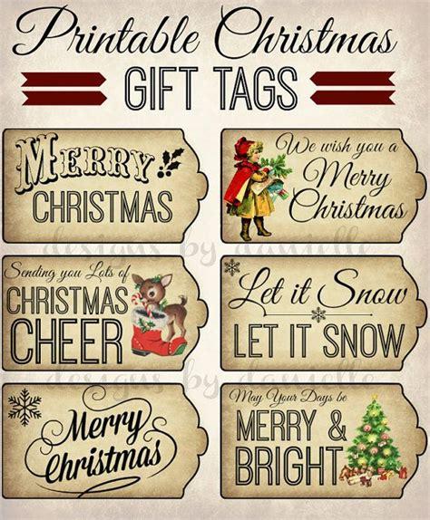 printable old fashioned christmas gift tags printable christmas tags instant download
