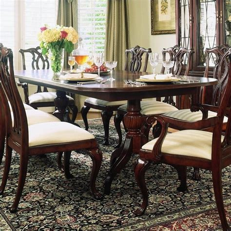 American Drew Dining Table American Drew Cherry Grove Pedestal Formal Dining Table In Cherry 792 744r