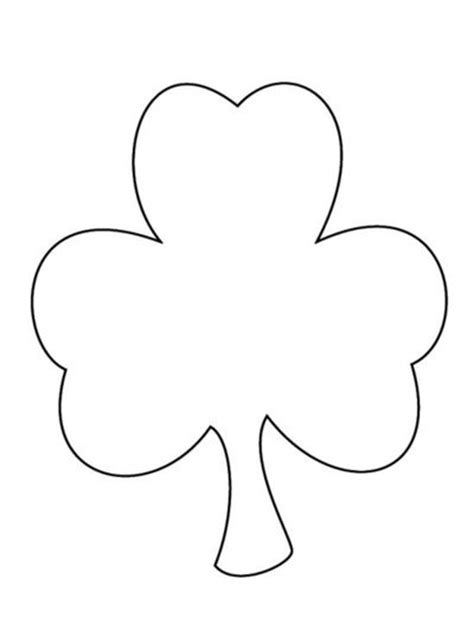 coloring pages shamrock template shamrock pattern for coloring painting scissor cutting
