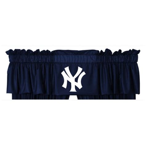 yankee curtains mlb officially licensed mlb new york yankees valance ny