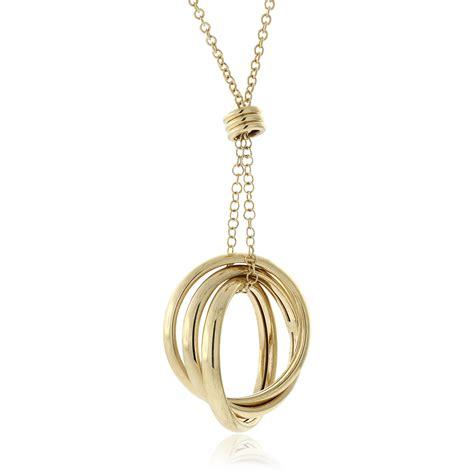 toscano interlocking rings necklace 18k ben bridge jeweler
