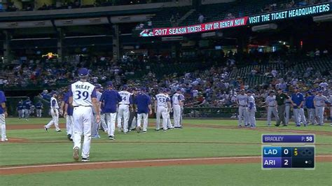 baseball benches clear benches clear at chase field mlb com