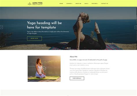 responsive website templates for yoga ajna a yoga instructor responsive website templates ease