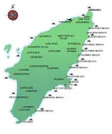 Rhodes Greece Map by Rhodes Rhodos Rodos Greece Map