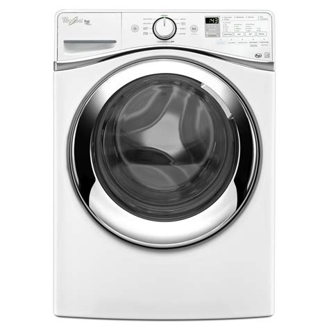 shop whirlpool duet 4 3 cu ft high efficiency stackable front load washer white at lowes com