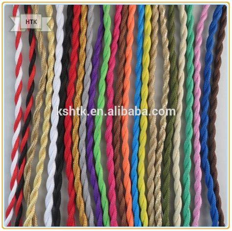 2 3 l wire colored textile braided twisted