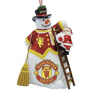 the 2009 manchester united snowman ornament amazon co uk